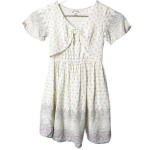 🇺🇸Art Class Little girl Dress Sz XS beige